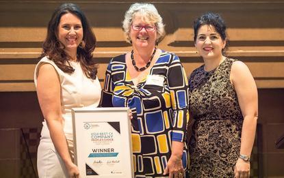 From left: Fifth Quadrant's Kristi Mansfield, TAFE's Theresa Collignon, and Flamingo's Julie Trajkovski