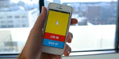 Snapchat's app on iOS.