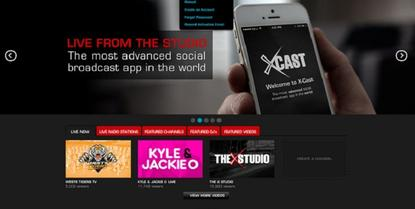 A screenshot showing the XCast app and West Tigers TV portal.