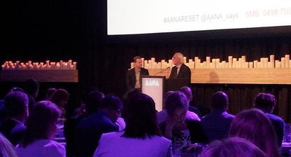 TBWA chairman, Jean-Marie Dru (right), with Suncorp CMO, Mark Reinke