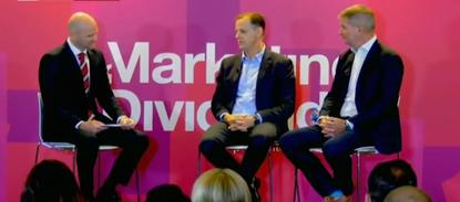 From left: Wavemaker's James Hier, Suncorp's Mark Reinke and Flight Centre's Darren Wright