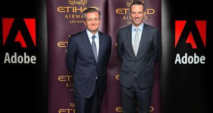 Etihad's Robert Webb (left) and Adobe's Paul Robson