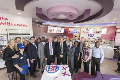 Baskin Robbins celebrate the new Manly store opening in October 2014