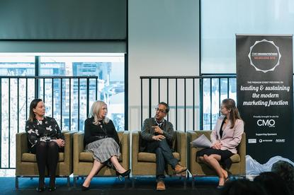 From left: Sport Australia's Louise Eyres, Forever New's Diane Belan, Kraft Heinz's Shalabh Atray and CMO's Nadia Cameron