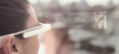 Google Glass screen
