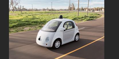 A prototype model of Google's self-driving car