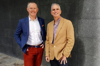 Nextgen group CEO, John Walters (left) with Bang Australia's MD, Martin Mason