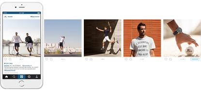 Lacoste's new Instagram carousel ad campaign