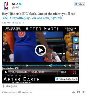 The NBA delivers in-tweet replays during the playoffs