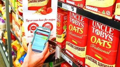 Nestle uses Tapit NFC technology for Oat and Strawberry campaign to give consumers mobile access to recipes with one touch
