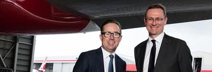 Qantas CEO, Alan Joyce (left) with Tourism Australia MD, John O'Sullivan