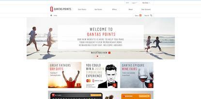 qantaspoints.com website