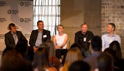 From left: Andrew Caie, GM marketing, Subaru; Arno Lenior; Dr Karen Nelson-Field, director, Centre for Digital Video Intelligence; Iain McDonald, chief disruption officer; and Ed Harrison, CEO, Yahoo7