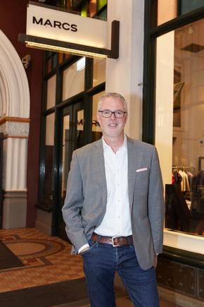 Myer's Daniel Bracken outside the Marcs QVB store in Sydney