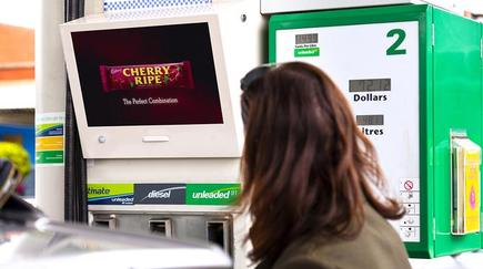 The Cherry Ripe pilot on digital billboards