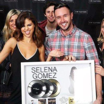 Universal Music marketing manager Chris Dyer with global music sensation Selena Gomez
