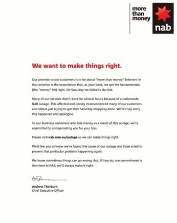 Print is not dead: NAB takes out newspaper ads to apologise