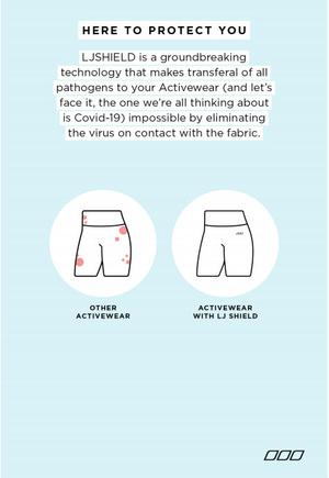 Sample of Lorna Jane's Anti-virus Activewear messaging presented by the ACCC