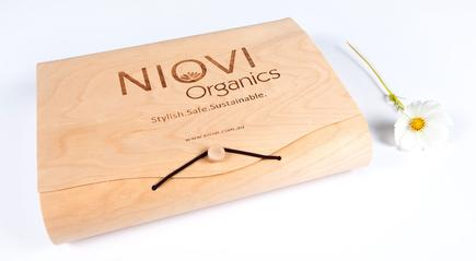 Niovi Organics wooden box