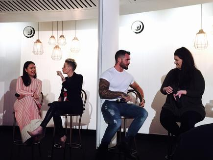 From left to right: brand owner of The Daily Edited Alyce Tran, theright.fit founder Taryn Williams, influencer and brand ambassador Dan Conn and social media star Tanya Hennessy at the Vivid Selfies to Superstar event