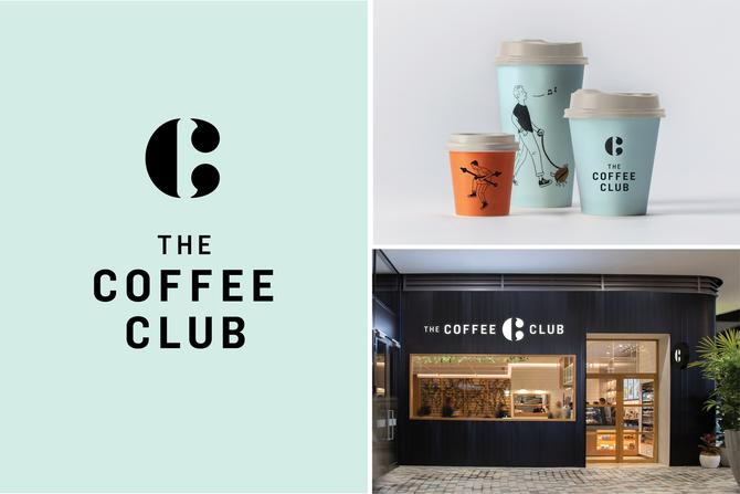 The new-look Coffee Club branding