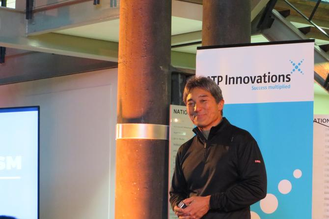 Guy Kawasaki outlines his golden touch rule at the Australian Technology Park.