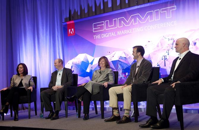 From left: Adobe's Ann Lewnes, Brigham Young University's Jeff Dotson, Russell Reynolds' Jana Rich; Razorfish's Peter Stein; and Audi of America's Jeff Titus