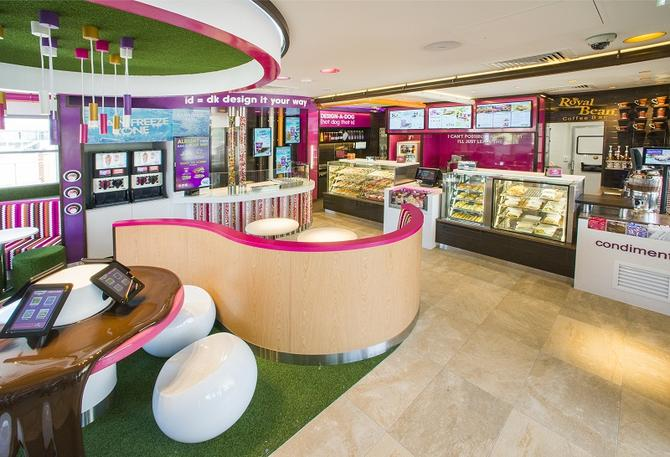 A Donut King store interior.
