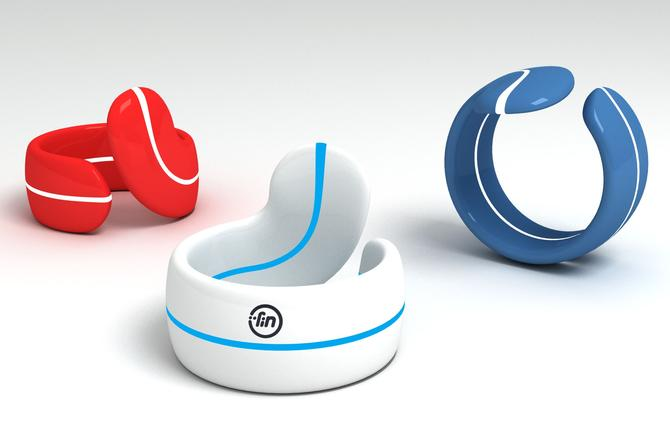Fin is a smart ring worn on a thumb that can control other devices.