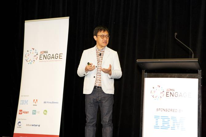 TripAdvisor director of partnerships APAC, Aaron Hung, addresses the ADMA Engage conference. Credit: ADMA