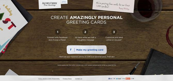 Come Up With A Quirky Way Of Using Social Media Messaging And Analytics To Help Customers Create Highly Personal Christmas Cards For Friends Family