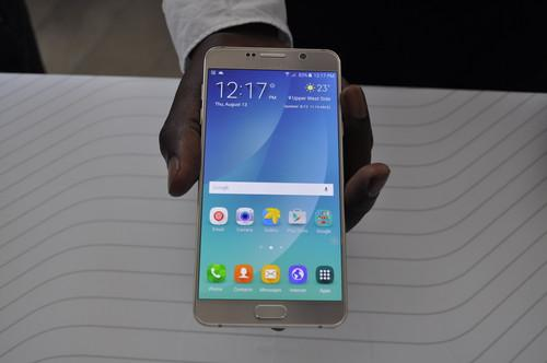 Samsung launched the Galaxy Note 5 at an event in New York Thursday.