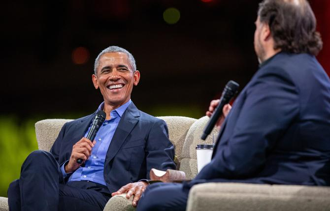 Barrack Obama in conversation with Marc Benioff