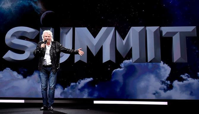 Richard Branson on the Adobe Summit stage