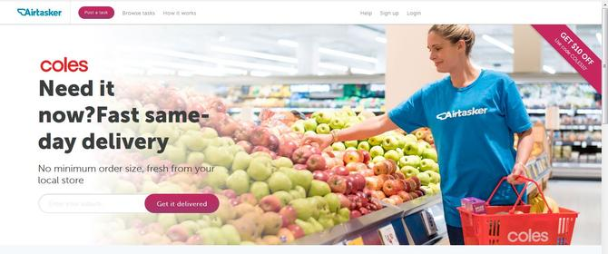 Airtasker partners with Coles on personalised grocery