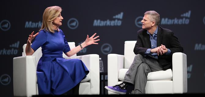 Arianna Huffington with Marketo CEO, Phil Fernandez