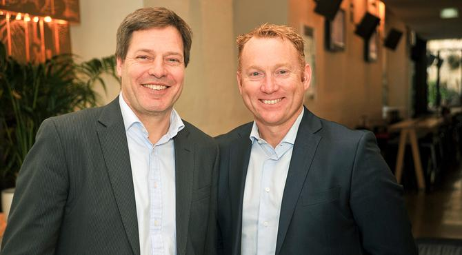 Greg Sutherland (left) and Andrew Walduck (right)