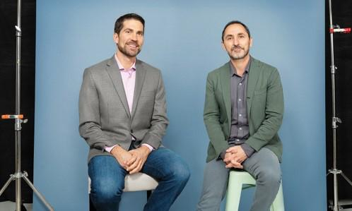 Brian Whipple (left) and David Droga