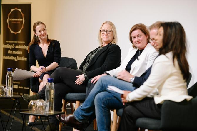 From left: CMO's Nadia Cameron, Michele Teague, Georgie Williams, Nick Baker and Michele Phillips