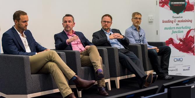 From left: Freedom Foods' Tom Dusseldorp; Bulla's Nick Hickford; Schneider Electric's Chris Quinn; and SumoSalad's Lawrence Mitchell