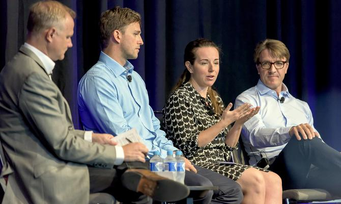 From left: Marketo's Bill Binch, LinkedIn's Ben Eastwell, Google's Maureen Morris and Facebook's Jason Juma-Ross
