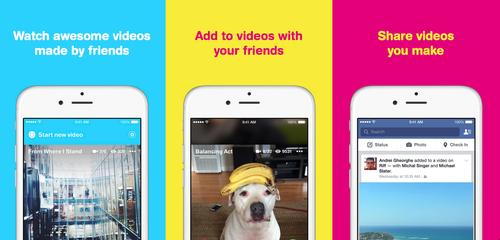 Facebook's Riff app lets users create short videos that their friends can add to.