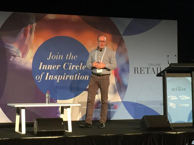Sur La Table's senior vice president of digital, Kevin Ertell, speaking at the Online Retailers Conference 2016 in Sydney