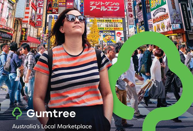 Example of the new brand creative from Gumtree