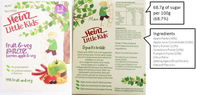 The packaging used by Heinz