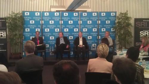 From left: James Temple (SF Chronicle), Walt Johnson (PARC), Bill Mark (SRI), and Andy Wilson (Microsoft)