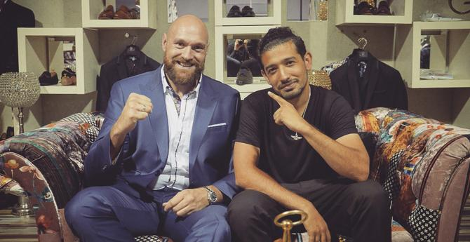 Nav Salimian with Tyson Fury