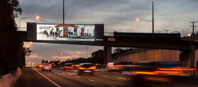 JCDecaux's programmatic out-of-home campaign with Tourism Tasmania