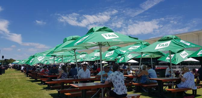 The Magic Millions lawn featuring the new TAB brand in Queensland
