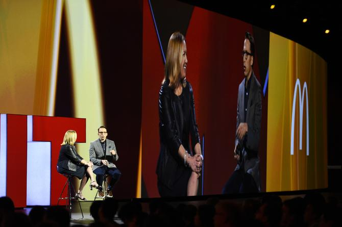 McDonalds CMO, Deborah Wahl, in conversation with Adobe's Brad Rencher